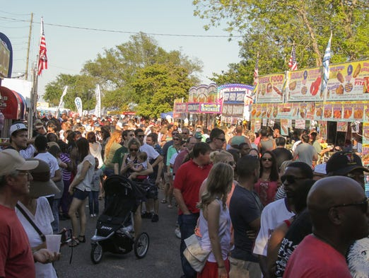 The 30th Annual Fiesta of Five Flags Pensacola Crawfish Festival in Bartram Park Saturday afternoon.