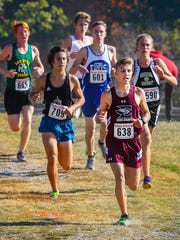 Eagleville's Dawson Reed (front) finished 11th overall