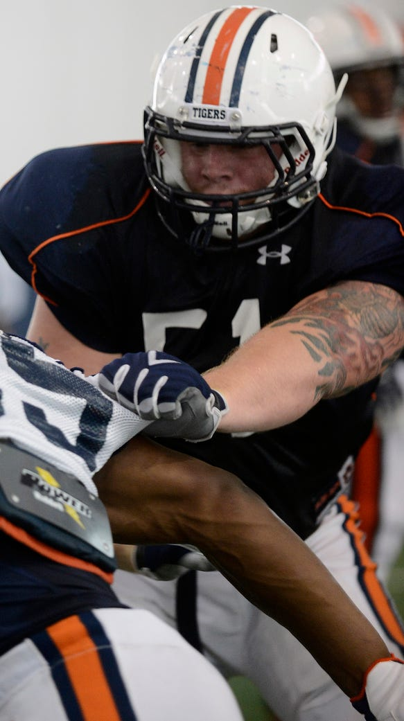 Auburn offensive tackle Patrick Miller has declared