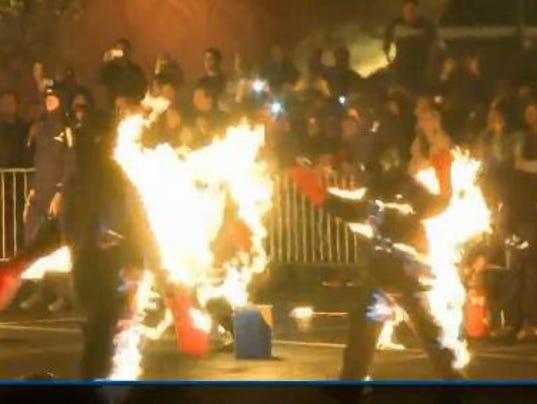 Burning fire 102013
