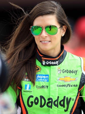 Danica Patrick prior to the Pure Michigan 400 at Michigan International Speedway.