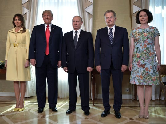 First lady Melania Trump, President Trump, Russian