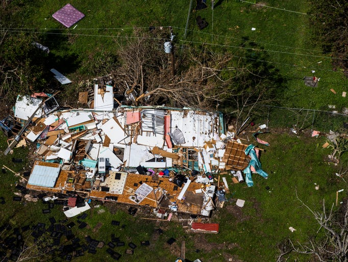 Aerial view of Immokalee on Saturday, Sept. 16, 2017,