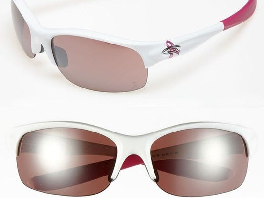 For every purchase of these $160 Oakley Commit SQ special edition sunglasses, $20 will be donated to the Young Survival Coalition, which is dedicated to research and helping young women who are diagnosed with breast cancer. To shop online or find a local store: www.oakley.com. Also available at www.nordstrom.com