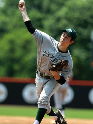 South Plainfield ace Chris Shine pitches in Saturday's GMCT final