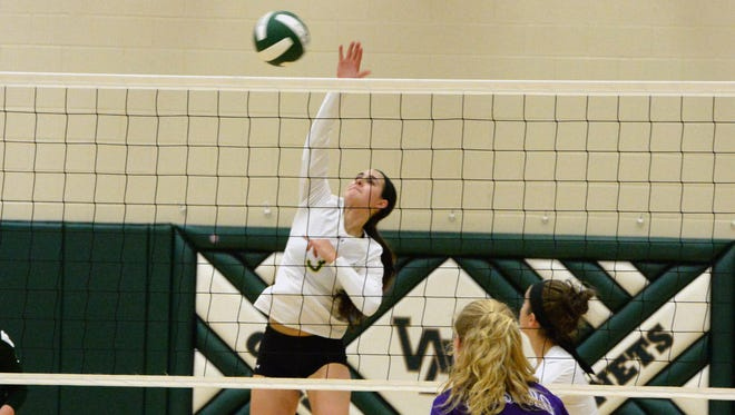 Hannah Johnson finished with 14 kills in Wilson Memorial's four-set win over Strasburg Saturday night.