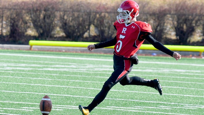 Peyton Skillman is the kicker for the Riverheads Gladiators, which are headed to Saturday's Class 1 state championship game.