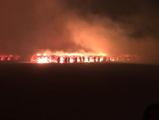 A fire at the Roscoe Co-op Gin caused an estimated
