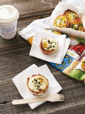 """Eggs can help you through the program. Bacon and egg """"cupcakes"""" can be eaten as breakfast or as a snack."""
