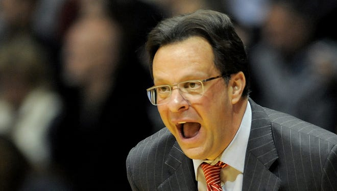 Indiana head coach Tom Crean during Saturday's loss at Purdue.
