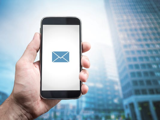 emails on smartphone
