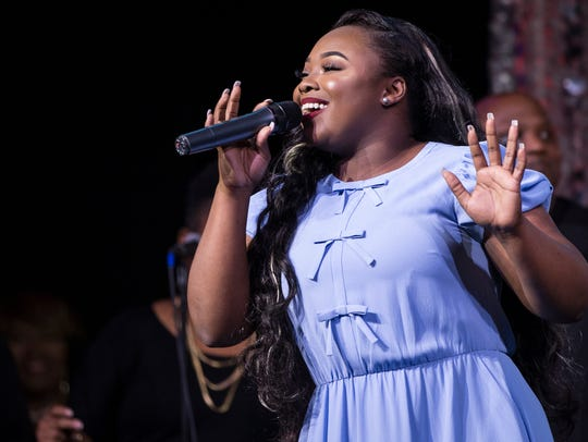 Jekalyn Carr performs at the GMA Honors and Hall of