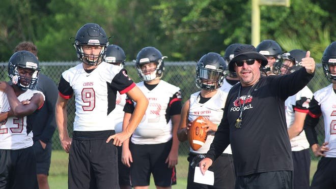 New Smyrna Beach football coach John Wilkinson is concerned for player safety when football season starts, considering Volusia athletes will not get on the field for conditioning until July 6.