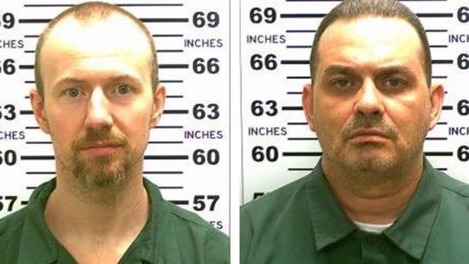 David Sweat, left, and Richard Matt