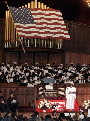 Scenes from the Neptune High School graduation held in 2010 at the Ocean Grove Great Auditorium.
