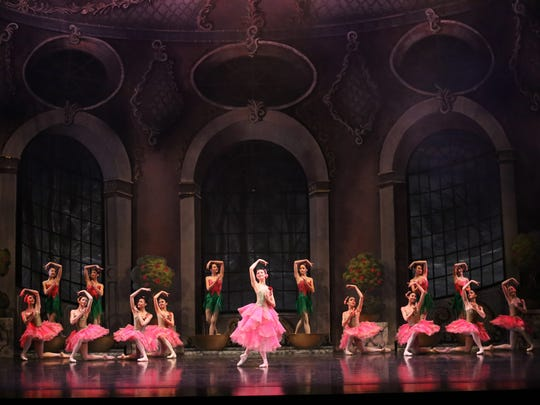 "In this scene from Ballet West II's production of ""Beauty and the Beast,"" the castle is visited by the Good Fairy and her entourage. Cincinnati Ballet's second company will perform the work April 6-8 at the Aronoff Center."
