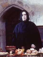The surly Severus Snape was played by the late Alan