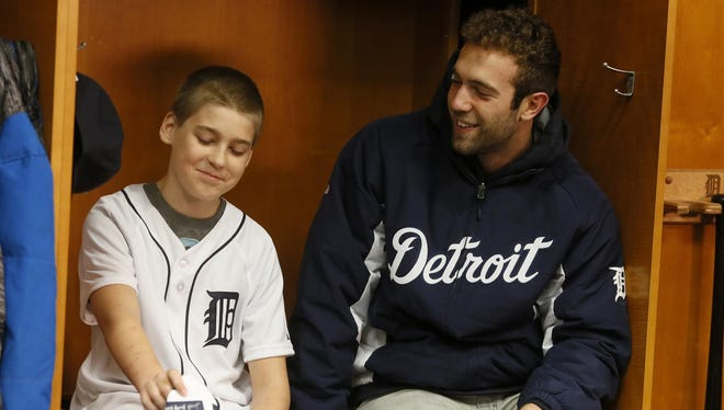 Hunter Bowman, an 11-year-old from Ludington, has thyroid cancer, similar to the kind Tigers pitcher Daniel Norris had last season.
