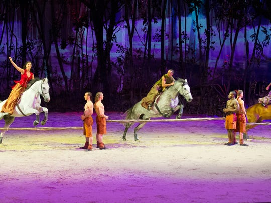 "Cavalia's ""Odysseo"" features 65 horses of 12 different"