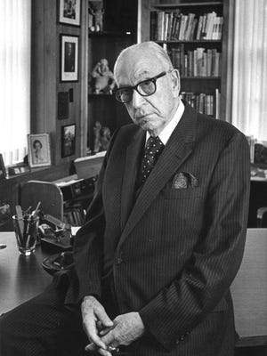 """Dr. Karl Menninger of Topeka, shown here, spent """"six decades as the dominant figure in American psychiatry,"""" according to his obituary in the New York Times."""