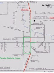 The Green Springs Volunteer Fire Department will hold the NOVFA Parade at 1:30 p.m. June 18 on the route in green.