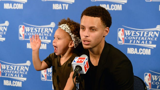 Stephen Curry's daughter Riley was a hit at the postgame press conference, but some were not fans.