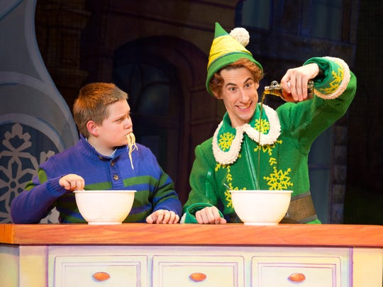 "Eric Williams stars in the title role of ""Elf: The Musical."""