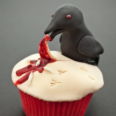 """The cupcake """"Fright Night"""" by Sarah Mickle was a winner in the 2012 Halloween cupcake contest."""