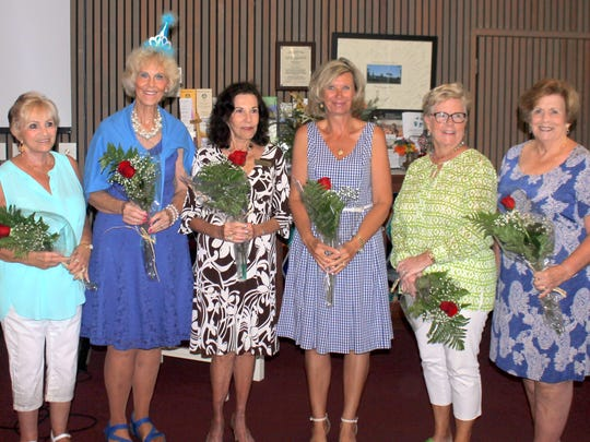 June birthday ladies are Ginny Milillo, Susie Walsh, Jean King, Lisa Gandy, Candy Glaser and Adele Meilen.