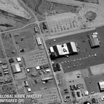 The Naval Air Warfare Center, at China Lake, Calif., taken by Global Hawk with the air vehicle's on-board infrared sensor from an altitude of more than 61,000 feet.