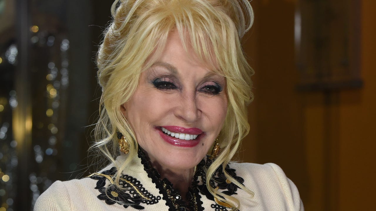 Dolly Parton sits down for an interview on Dollywood's opening day March 16, 2018.