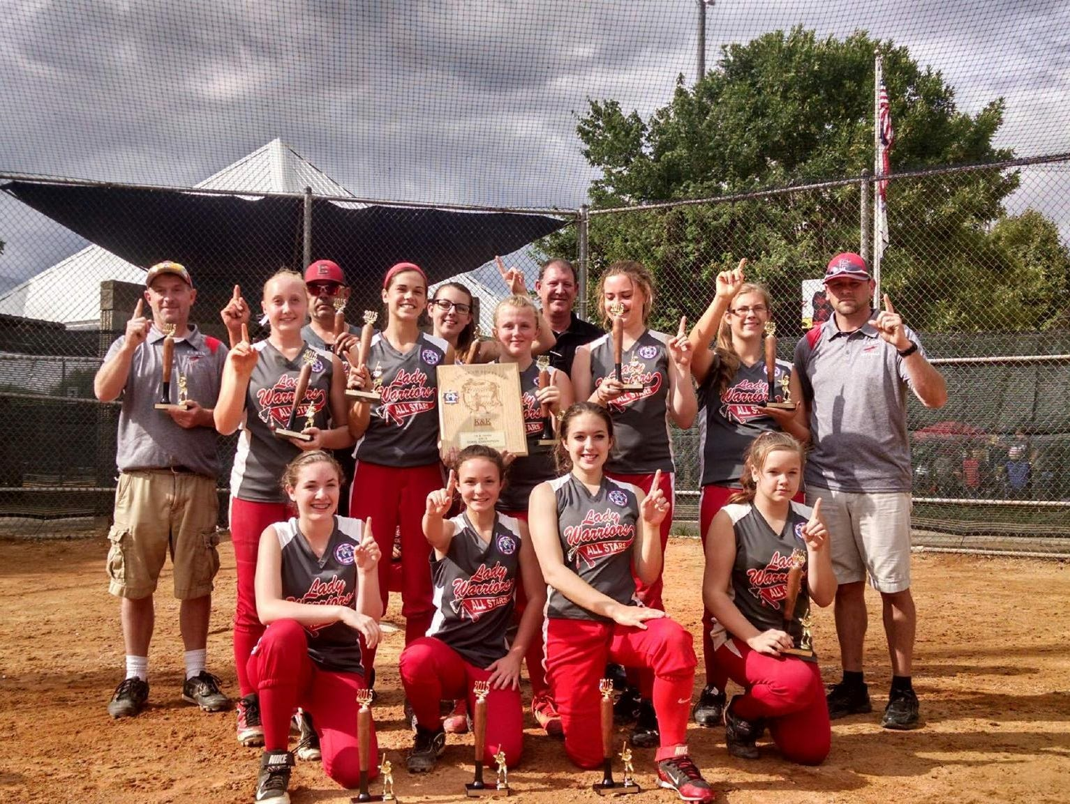 The Erwin 14U softball team.