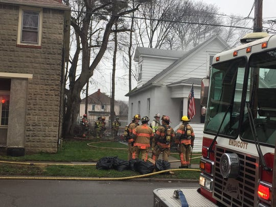 Crews responded to a two-alarm fire on Arthur Avenue