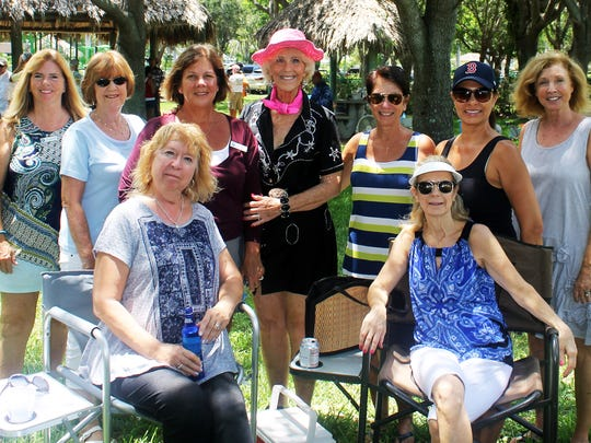 Kim Heinemann, Linda Hollander, Bobbie Ordejia, Jan Scriver, Susie Walsh, Ann Marchetti, Pat Arcidiacono, Sue Linn and Etoila Bristow at the picnic.