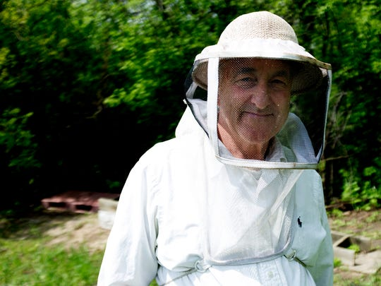 East Troy beekeeper Dan O'Leary (Honey Valley Beekeeping) has been beekeeping for over 20 years; he sells his honey wholesale locally and at farmers markets.