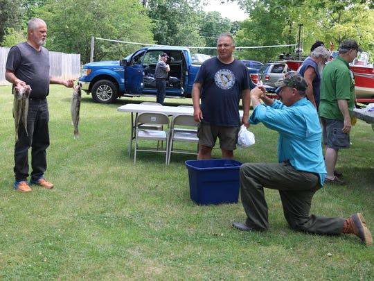 A group of about 150 veterans from the Walleye for Wounded Warriors organization visited Port Clinton over the past weekend, and had every single walleye they caught donated for a large fish fry event at the conclusion of a whole series of events the veterans had the chance to participate in over the course of their few days in the community.