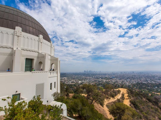 Griffith Observatory with Hiking Trail