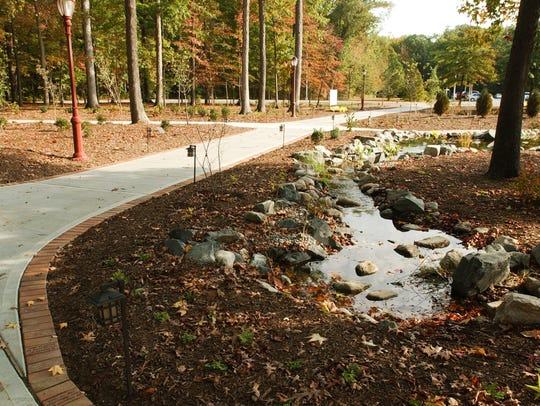 The Memorial Garden was  created in response to the