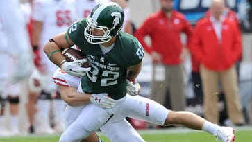 Josiah Price is Michigan State's all-time leader in touchdowns by a tight end with 21.