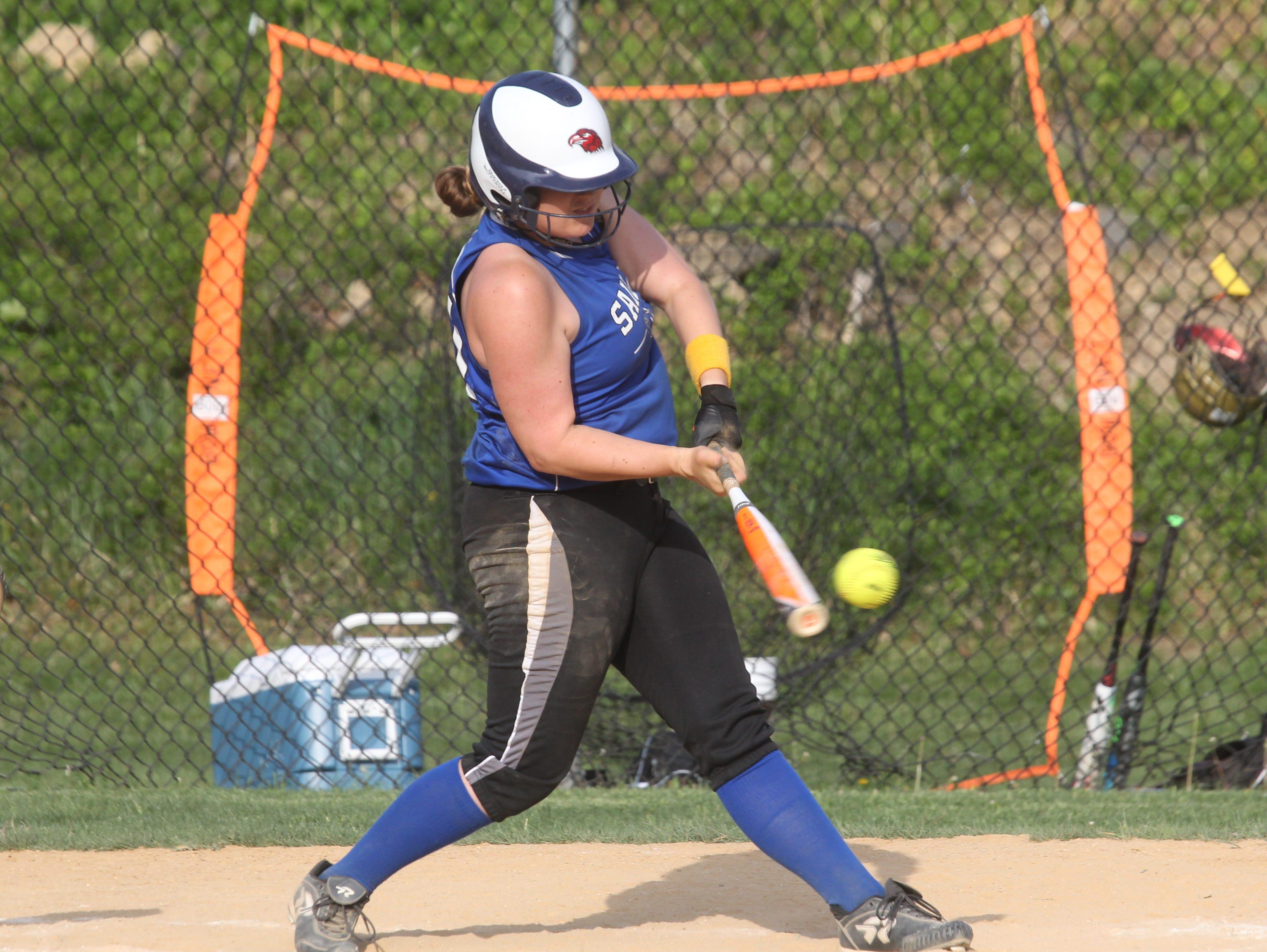 Clarkstown South softball won 11-4 at Hendrick Hudson May 11, 2015.