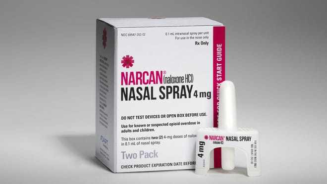 Narcan, a brand of naloxone, is used to save someone's life during an opioid overdose. The Michigan Department of Health and Human Services urges opioid users to have Narcan on hand as overdoses increase during the COVID-19 pandemic.
