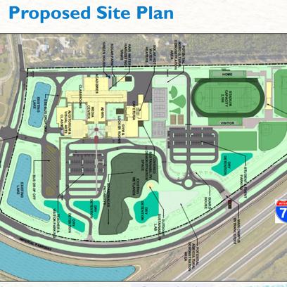 The design plans for the Bonita Springs High School
