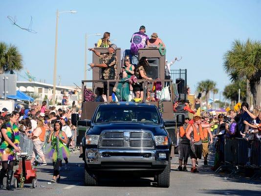 Krewe of Wrecks Pensacola Beach Mardi Gras Parade 34