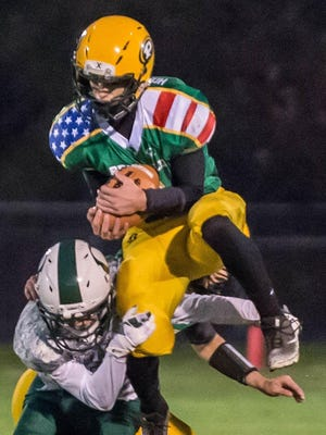 Pennfield's Jaycob Herpin is one of the top football players of the decade for the Panthers.