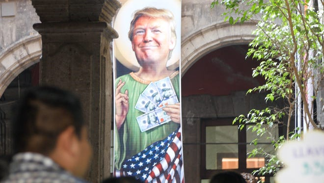 There are more than 100 drawings of Donald Trump at the Museo de la Caricatura in Mexico City.