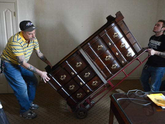Items to be auctioned at Yorktowne Hotel