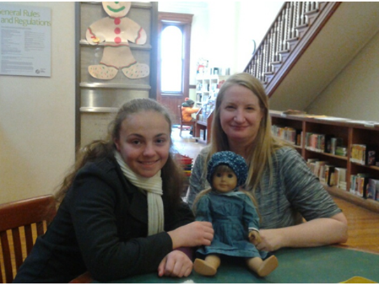 Yonkers Girl Scout Olivia Reduto, left, with Thea Taube,