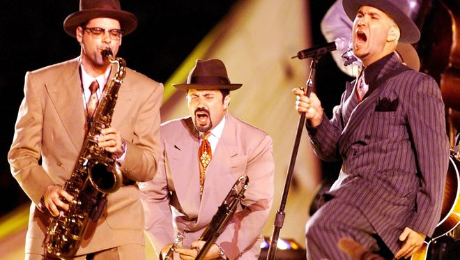 Big Bad Voodoo Daddy plays at OC Sunfest on Thursday, Sept. 21, 2017.