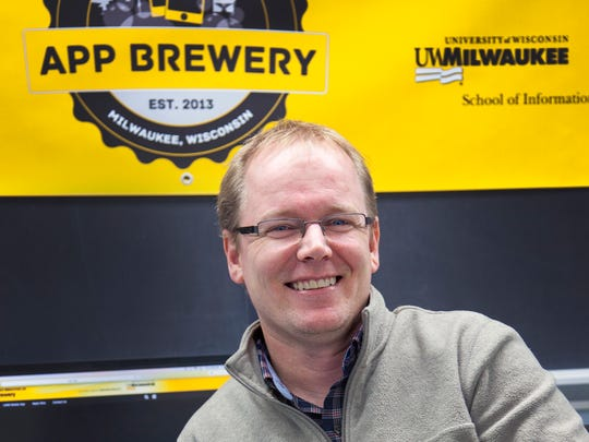 Dustin Hahn is project manager at the UWM App Brewery. --- UWM/Pete Amland