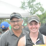 Mark Shafer, left, has coached his daughter Shelly Shafer during her senior year, and the two will travel to the state finals Friday and Saturday.